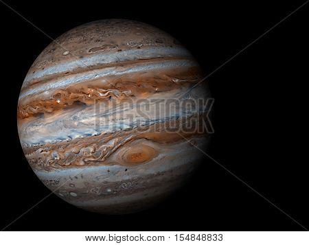 3D render the planet Jupiter on a black background high resolution Elements of this image furnished by NASA