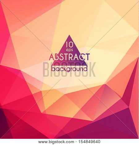 Abstract colorful geometric triangular background - eps10 vector
