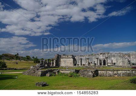Tulum, Mayan Ruins Besides Caribbean Sea. Riviera Maya, Traveling America.