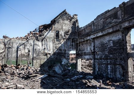 Ruins of Agricultural machinery plant named after Stalin in Voronezh