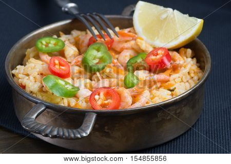 Fried Rice With Shrimp And Vegetables