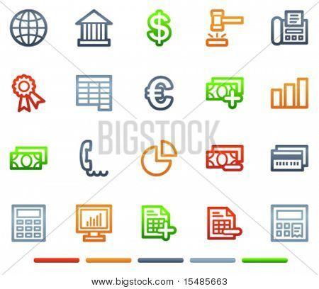 Banking web icons, colour symbols series