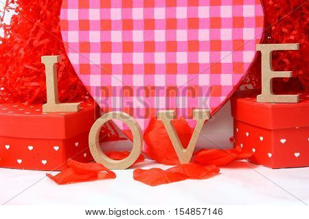 letters of love to show the concept of valentines day