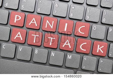 Red panic attack key on keyboard
