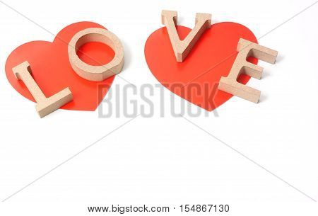 Words of love written on the shape of a heart for Valentines day