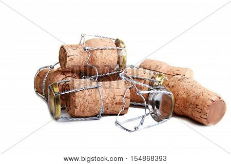 image of cork on a white background