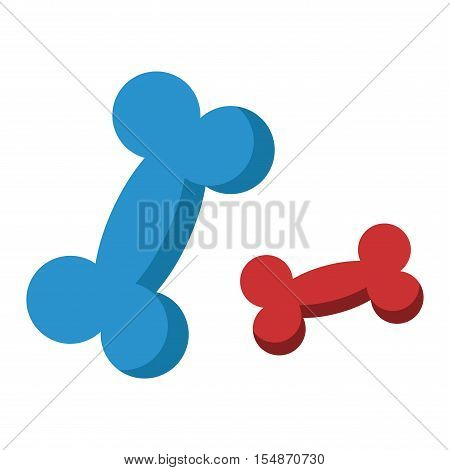 Dog bone animal food meal pet biscuit toy canine snack plate vector. Dog bone food and meal dog bone puppy eat.