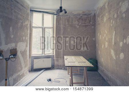 Home Renovation , Old Flat During Renovation