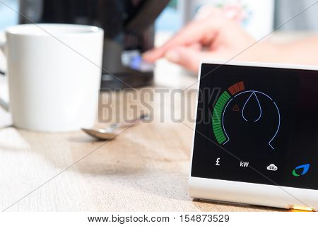 British Gas Smart Meter Measures Home Energy Consumption