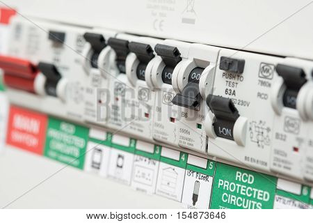 An Rcd Circuit Breaker Switch Displays Off For Lights