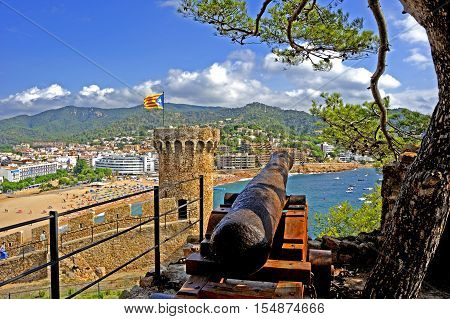 Tossa De Mar, an ancient fishermen's village , has become a well known tourist destination on the Costa Brava, Spain