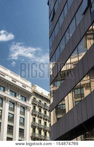 Barcelona (Catalunya Spain): modern building along the Paseig de Gracia