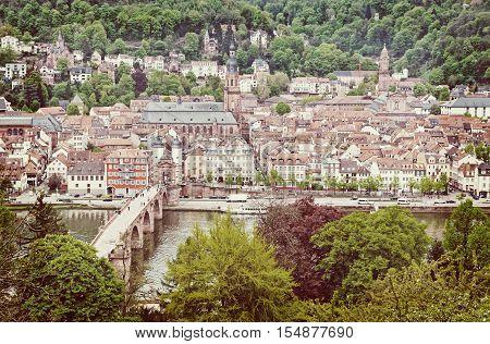 Aerial View Of Heidelberg Old Town, Germany