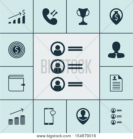Set Of Human Resources Icons On Job Applicants, Messaging And Curriculum Vitae Topics. Editable Vect