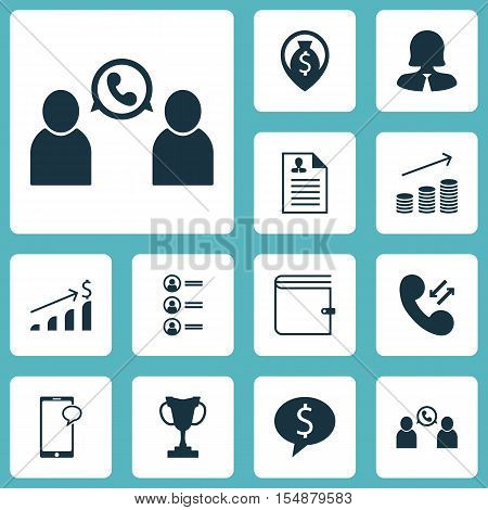Set Of Hr Icons On Successful Investment, Business Deal And Tournament Topics. Editable Vector Illus