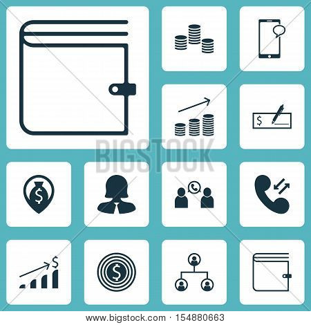Set Of Human Resources Icons On Cellular Data, Phone Conference And Tree Structure Topics. Editable