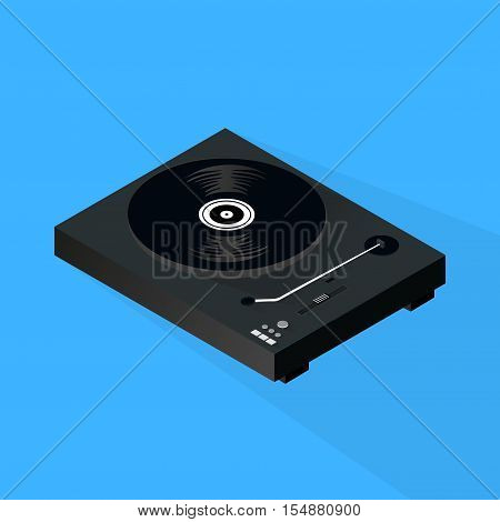 Isometric 3d Turntable Background, Vector, Illustration, Backdrop