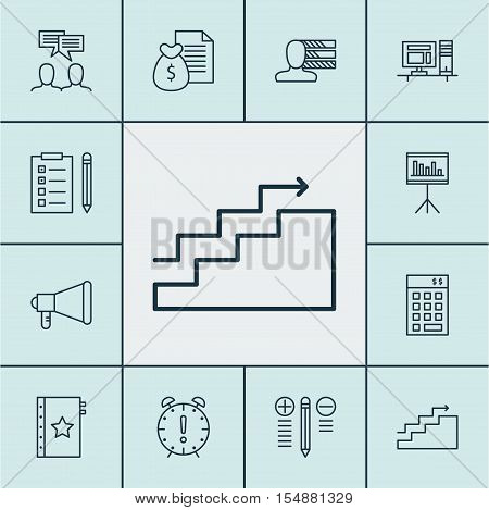 Set Of Project Management Icons On Warranty, Investment And Discussion Topics. Editable Vector Illus