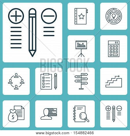 Set Of Project Management Icons On Presentation, Investment And Analysis Topics. Editable Vector Ill