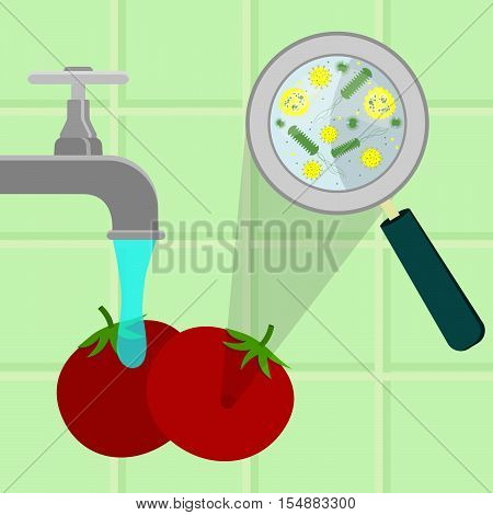 Washing Contaminated Tomatoes