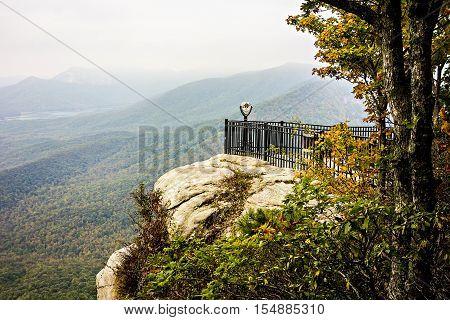 a landscape view at cedar mountain overlook