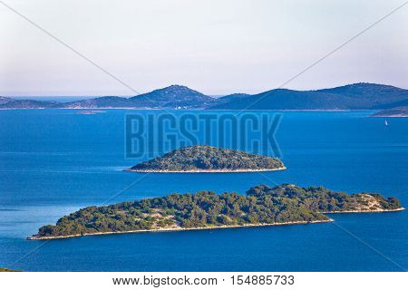 Adriatic archipelago of Croatia view Kornati islands national park Dalmatia