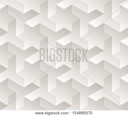 Vector Seamless Black And White Gradient Geometric Star Triangle Shape Tessellation Subtle Pattern Abstract Background