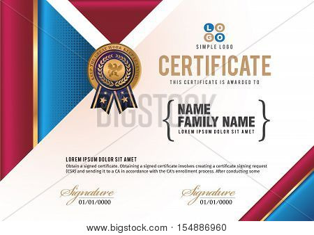 Certificate vector luxury template. certificate and diploma.