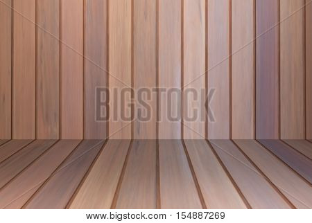 Brown wooden wall interior background, stock photo