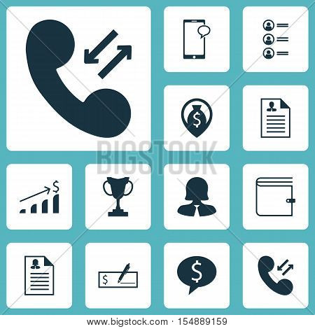 Set Of Hr Icons On Wallet, Successful Investment And Money Navigation Topics. Editable Vector Illust