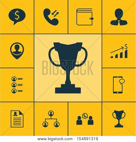 Set Of Management Icons On Tournament, Female Application And Messaging Topics. Editable Vector Illu