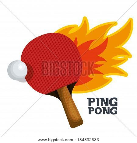 ping pong equipment sport vector illustration design