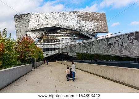 Philharmonie In The Parc De Villette In Paris, France