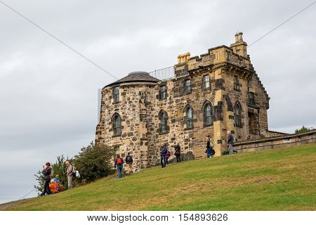 Gothic Tower On Calton Hill In Edinburgh
