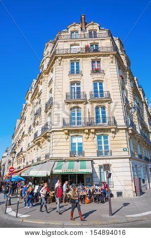 Parisian Cafe On The Ile De Cite