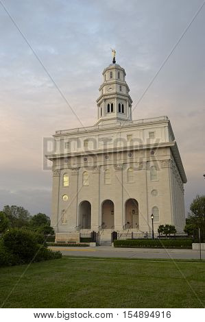 The Latter-Day Saint Temple in Nauvoo, Illinois