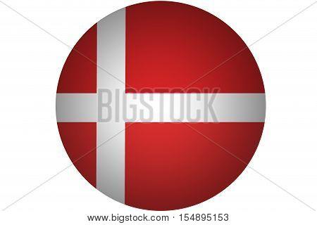 :Denmark flag ,Denmark national flag illustration symbol.