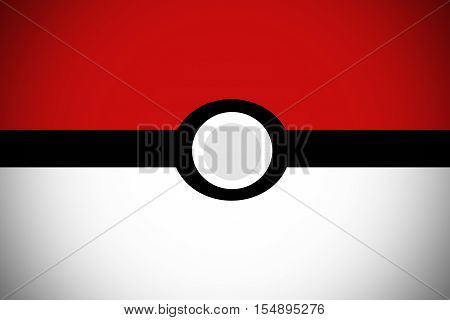 Cartoon animation background , Red ball background.