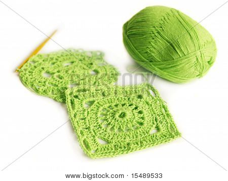 Crocheted Motifs Of Cotton