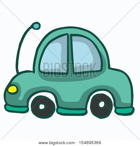 Car funny style design for kids vector illustration