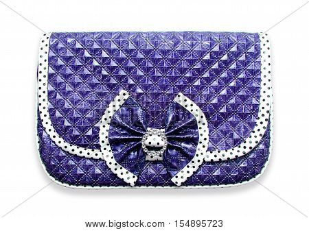 The female violet bag isolated on a background