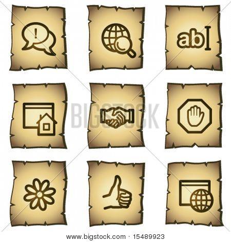 Internet web icons set 1, papyrus series