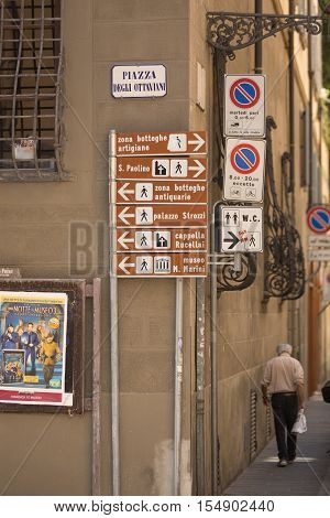 Tourist Signs Florence