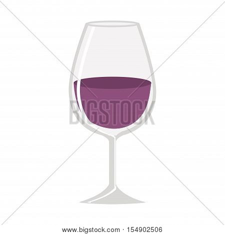 wine glass liquor drink icon over white background. vector illustration