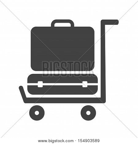 Bag, luggage, travel icon vector image. Can also be used for travel. Suitable for web apps, mobile apps and print media.