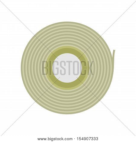 Scotch tape vector icon in flat style. Office supplies, tools and instruments. Illustration for application button pictograms, infogpaphics elements, logo, web design. Isolated on white background