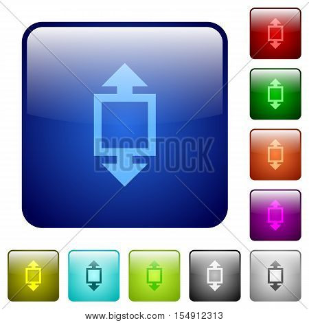 Height tool color glass rounded square button set