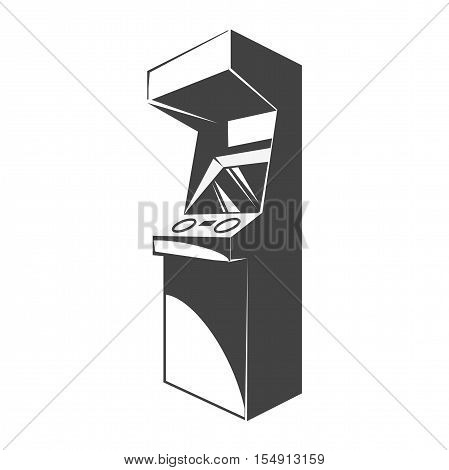 Retro arcade video game machine. Gaming machine icon. Vector illustration