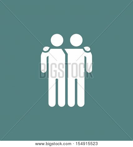 Friends Icon Vector Illustration Isolated On White Background. Friendship Sign.