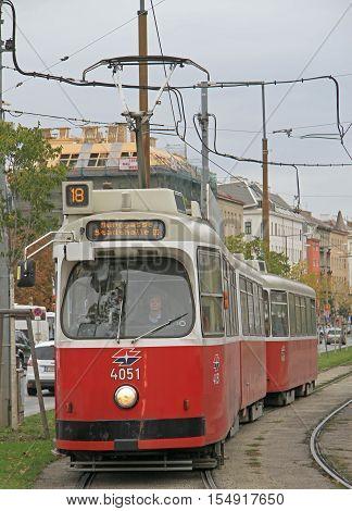 Woman Is Driving Tram In Vienna, Austria